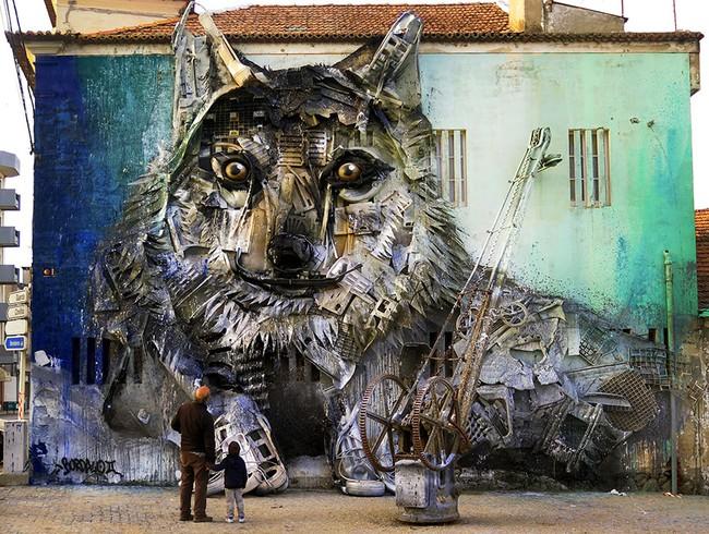 Từ đồ đồng nát sắt vụn, người ta có thể dựng nên các mô hình động vật đầy nghệ thuật - Ảnh 4.