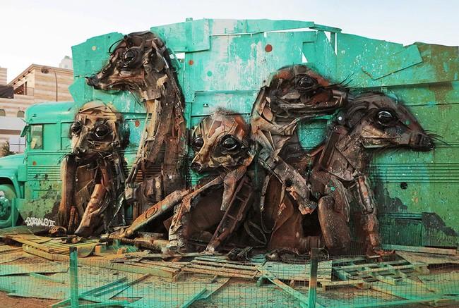 Từ đồ đồng nát sắt vụn, người ta có thể dựng nên các mô hình động vật đầy nghệ thuật - Ảnh 5.