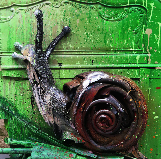 Từ đồ đồng nát sắt vụn, người ta có thể dựng nên các mô hình động vật đầy nghệ thuật - Ảnh 7.