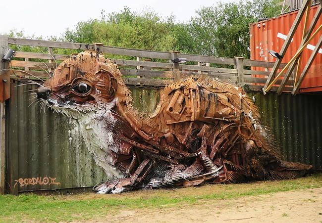 Từ đồ đồng nát sắt vụn, người ta có thể dựng nên các mô hình động vật đầy nghệ thuật - Ảnh 8.