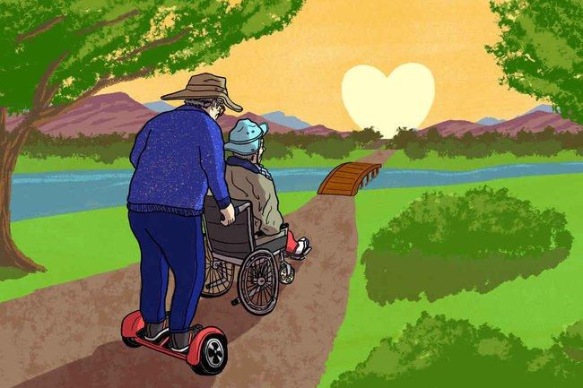 Cảm động với ông lão 78 tuổi Đưa em đi khắp thế gian bằng xe điện tự cân bằng - Ảnh 2.