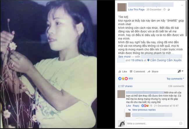 Nữ kỹ sư trẻ ở Sài Gòn kêu gọi cộng đồng mạng giúp đỡ tìm lại người mẹ bỏ đi 22 năm trước - Ảnh 1.