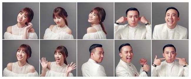 Đến việc chụp ảnh làm thiệp cưới, Trấn Thành và Hari Won cũng kỳ quặc chẳng giống ai - Ảnh 3.