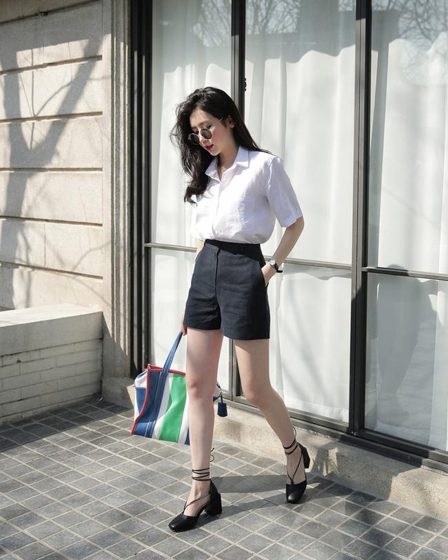 12 công thức diện shorts vải mùa hè xinh ơi là xinh lại mát rượi cho các cô nàng học theo - Ảnh 6.