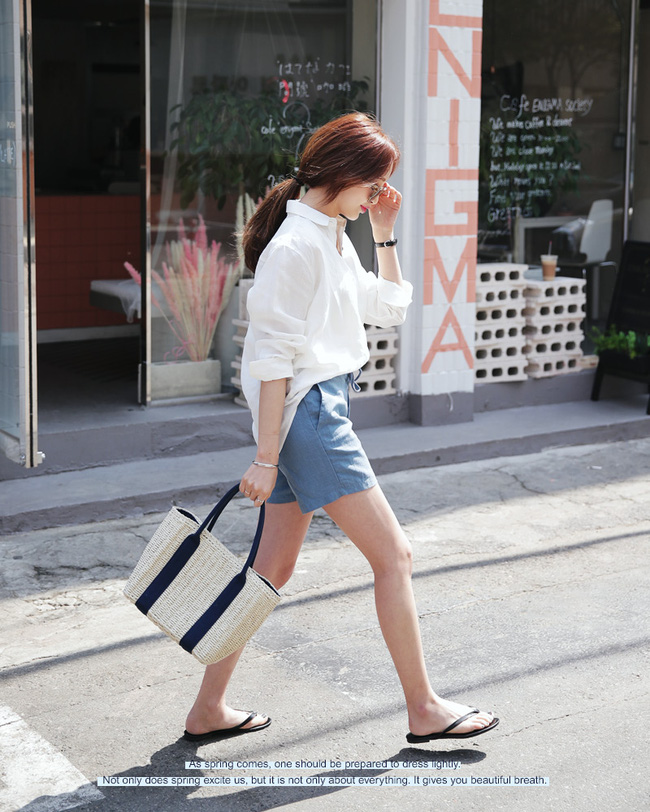 12 công thức diện shorts vải mùa hè xinh ơi là xinh lại mát rượi cho các cô nàng học theo - Ảnh 9.