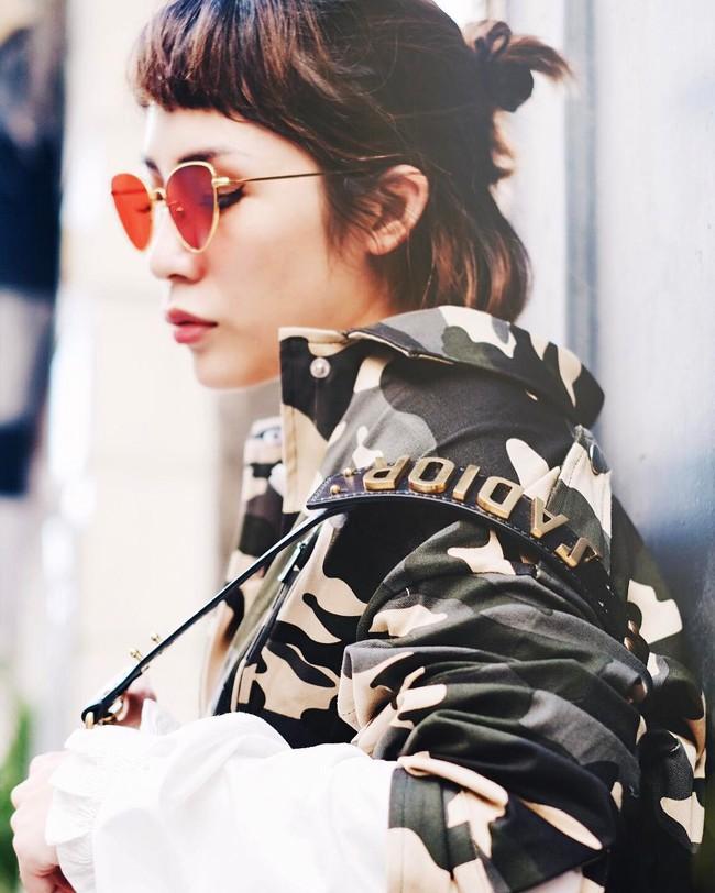 Tưởng đã hạ nhiệt, mốt tóc mái Maruko ngắn cũn lại đang thu phục hàng loạt sao và hot girl Việt - Ảnh 9.