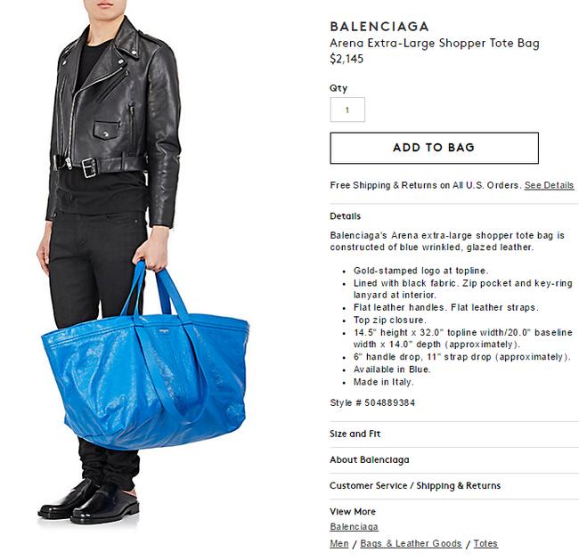 Túi 50 triệu của Balenciaga trông hệt như túi nhựa 20 nghìn được bán ở IKEA hình 3