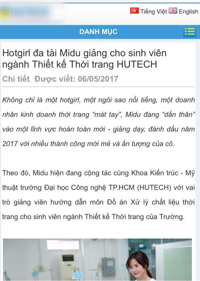 Midu chính thức lên tiếng giữa ồn ào giảng viên - trợ giảng của trường Hutech - Ảnh 2.