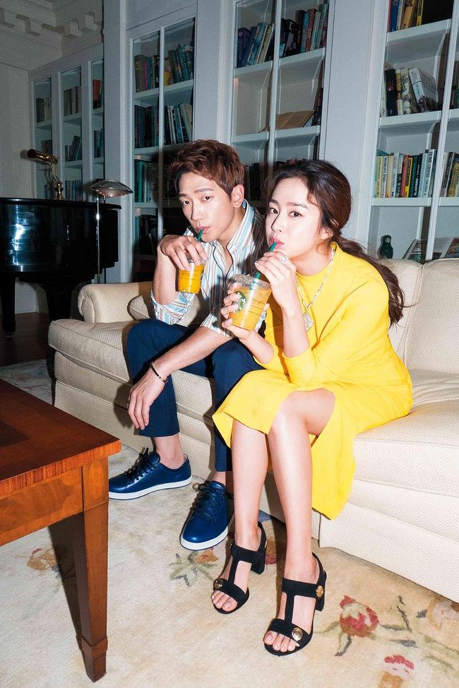 Kim Tae Hee và Bi Rain lộ khoảnh khắc chăm sóc nhau mùi mẫn hiếm hoi trên bìa tạp chí - ảnh 7