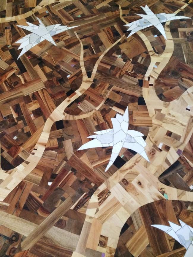 Thu thập các mảnh gỗ vụn bỏ đi, người đàn ông biến sàn nhà thành một tác phẩm nghệ thuật đẹp ngỡ ngàng - Ảnh 15.
