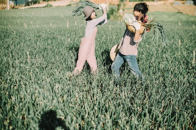 Chỉ cần yêu nhau thật nhiều thì ảnh cưới chụp ở... vườn rau cũng khiến người ta xuýt xoa - Ảnh 4.