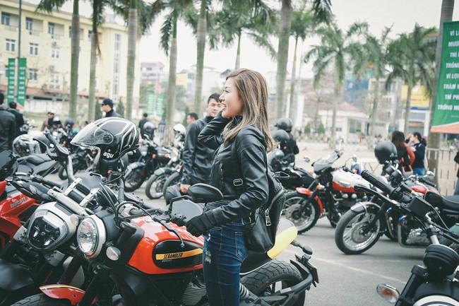 Nhan sắc cô gái cưỡi Ducati gây chú ý trong đoàn diễu motor tưởng nhớ Trần Lập - Ảnh 5.