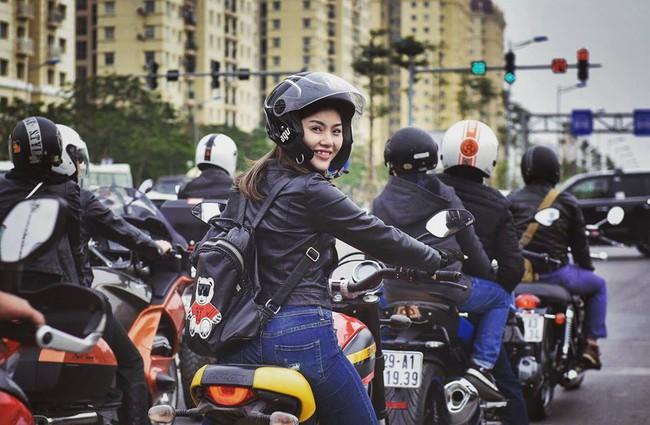 Nhan sắc cô gái cưỡi Ducati gây chú ý trong đoàn diễu motor tưởng nhớ Trần Lập - Ảnh 6.
