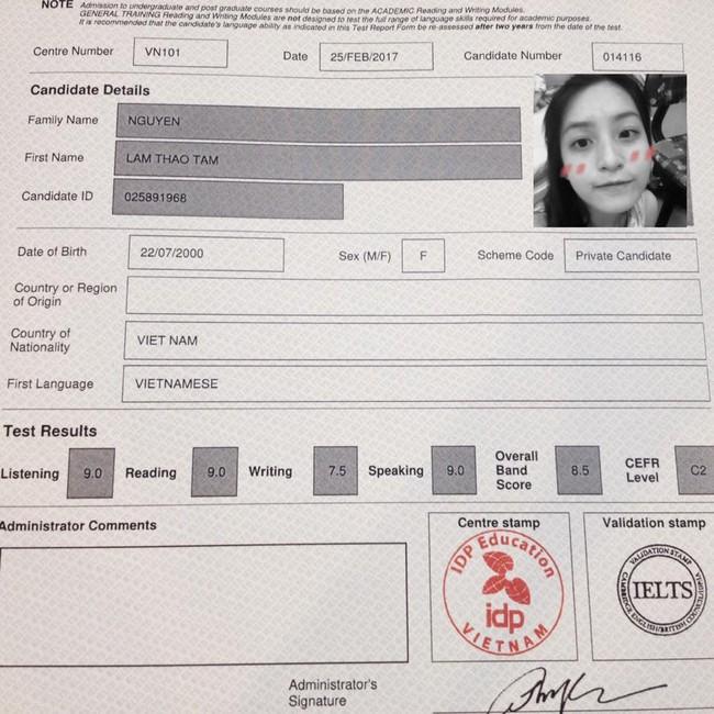 Nữ sinh 2000 xinh đẹp, đạt điểm IELTS 8.5 ngay lần thi đầu tiên khiến dân mạng thán phục