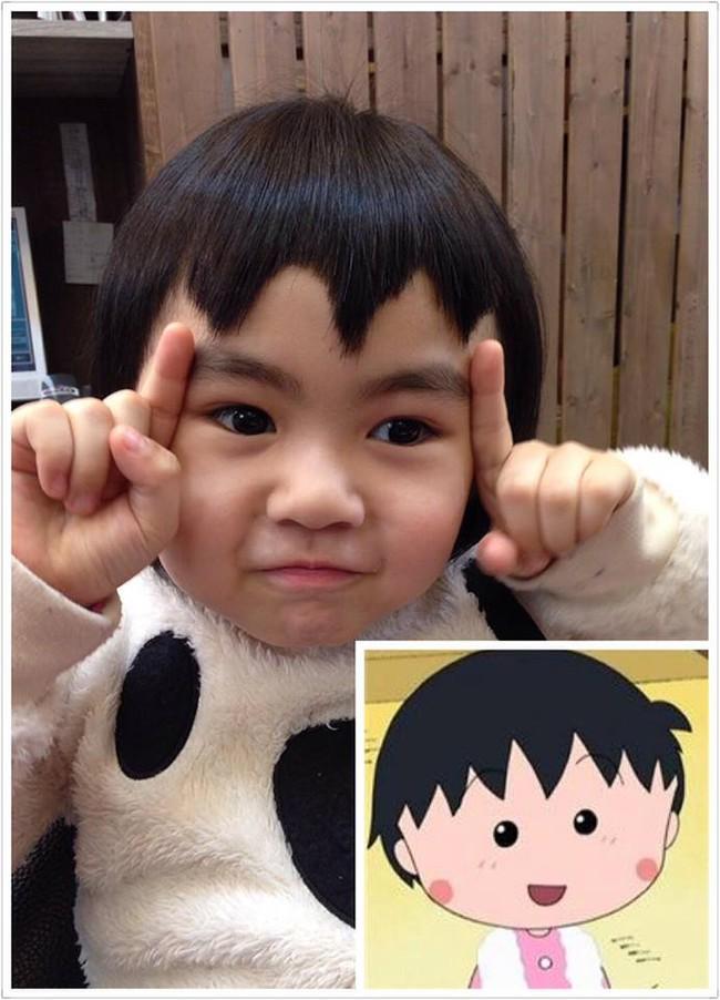 Bị mẹ ngăn cản, cô bé 5 tuổi vẫn kiên quyết cắt tóc răng cưa để giống thần tượng Maruko - ảnh 1