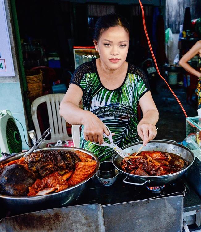 Chế chưa đã, fan lại cho Rihanna về Việt Nam bán phá lấu, Christina bán trái cây - ảnh 1