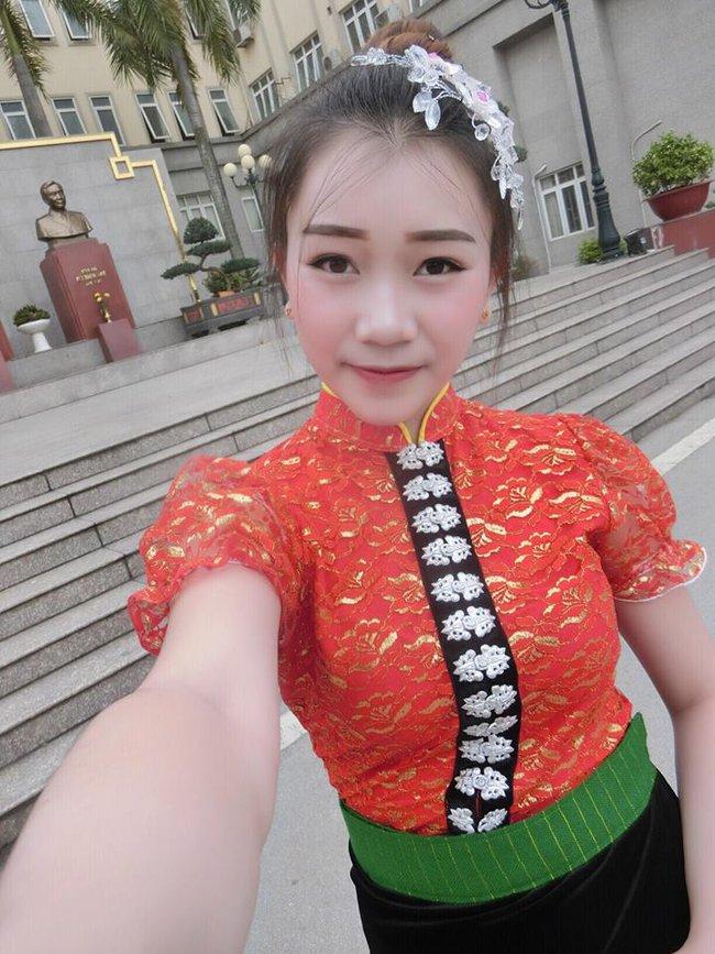 Nữ sinh Lào 19 tuổi cực xinh và nổi bật trong cuộc thi Hoa khôi Đại học Tây Bắc - Ảnh 6.