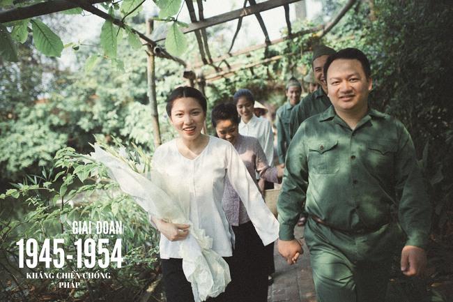 Độc nhất vô nhị: Chụp một lần, cặp đôi tái hiện được tất cả các kiểu lễ cưới Việt Nam trong 100 năm qua! - Ảnh 3.