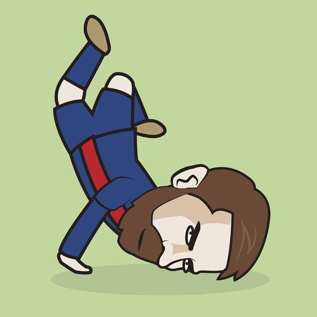 Bức ảnh Messi ngã sấp mặt gây bão - Ảnh 3.