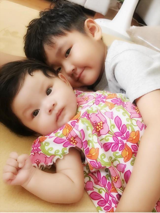 Hải Băng khoe ảnh con trai riêng của Thành Đạt xung phong chăm sóc em gái - Ảnh 3.