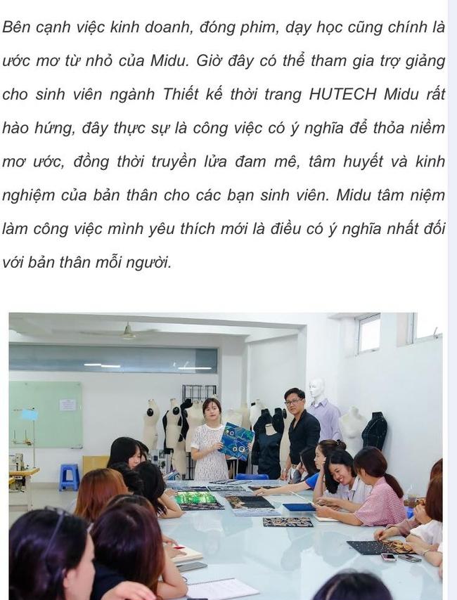 Midu chính thức lên tiếng giữa ồn ào giảng viên - trợ giảng của trường Hutech - Ảnh 3.