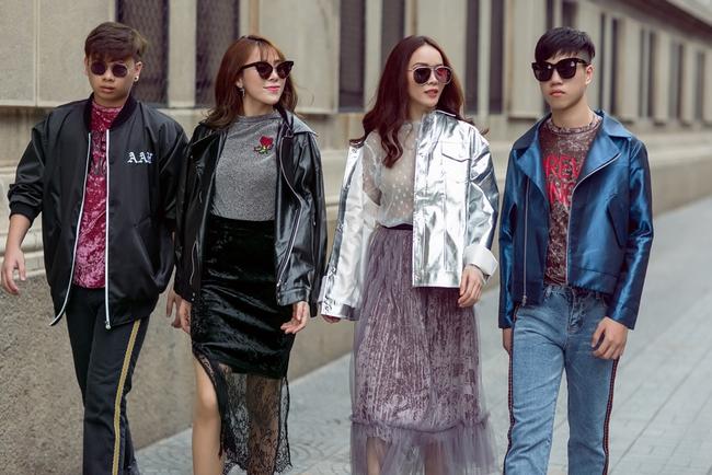 Team Yến Trang tung bộ ảnh streetstyle cực chất trước đêm thi The Remix - Ảnh 9.