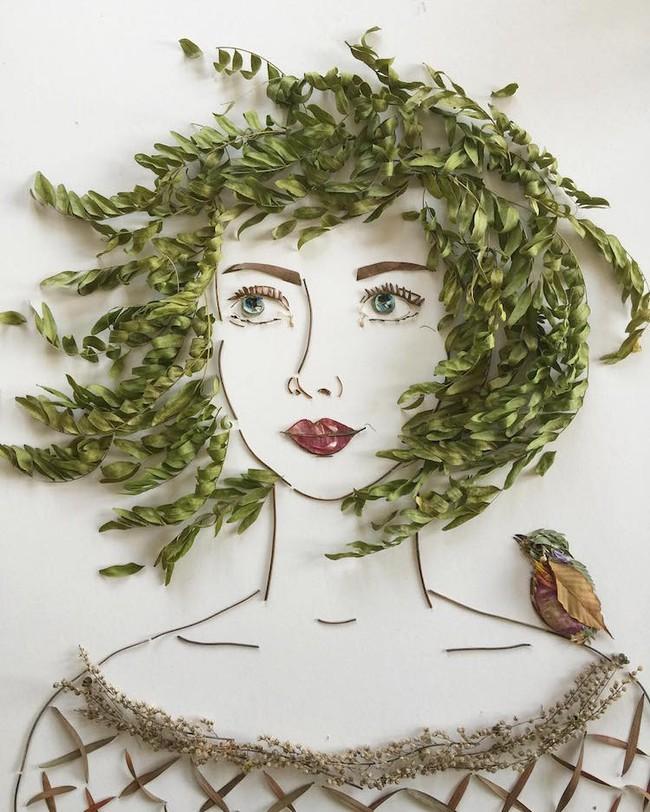 Ngắm bộ tranh chân dung gái đẹp được làm từ hoa cỏ mùa xuân - Ảnh 19.