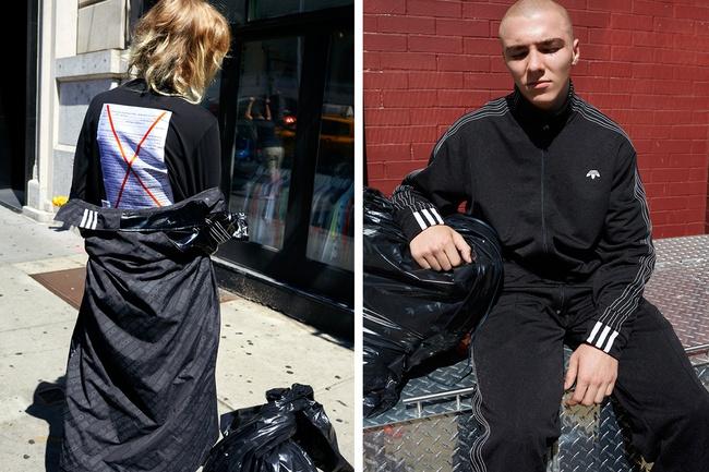 adidas Originals x Alexander Wang lăng xê mốt nhặt lá đá ống bơ, tay cầm túi rác ra đường - Ảnh 15.