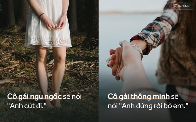 Sự khác biệt giữa một cô gái thông minh và một cô nàng ngu ngốc khi yêu