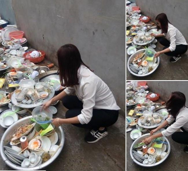 Đi phụ đám cưới, cô gái lên mạng sống ảo than nhà người yêu bắt rửa cả núi bát đĩa - Ảnh 1.
