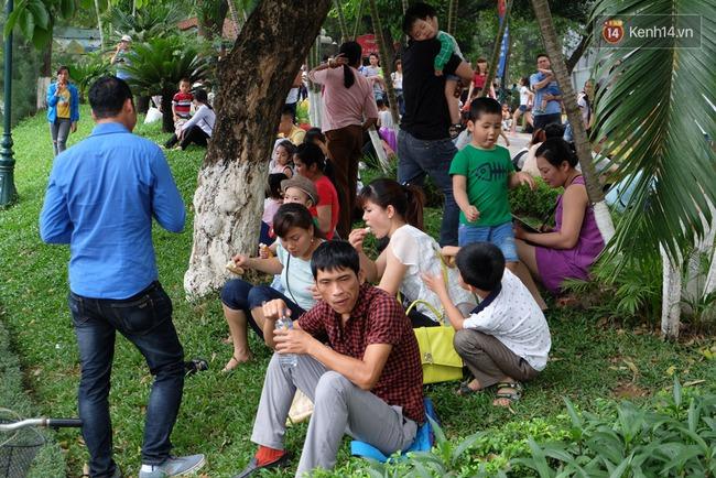 Hà Nội: Biển người chen chân ở vườn thú Thủ Lệ, ngồi la liệt trên bãi cỏ dịp nghỉ lễ 30/4 - Ảnh 17