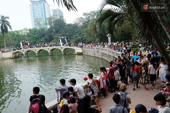 Hà Nội: Biển người chen chân ở vườn thú Thủ Lệ, ngồi la liệt trên bãi cỏ dịp nghỉ lễ 30/4 - Ảnh 5