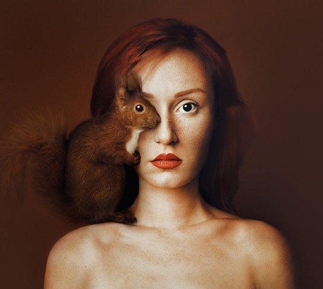 Con người và động vật xuất hiện cùng nhau trong bộ ảnh ghép mắt tuyệt đẹp - Ảnh 3.