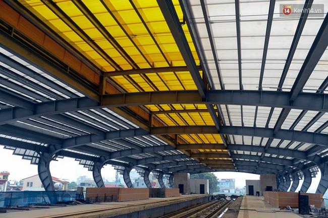 Các nhà ga của tuyến đường sắt Cát Linh - Hà Đông đang dần hoàn thiện, mỗi nhà ga là một màu sắc riêng biệt, nổi bật! - Ảnh 4.