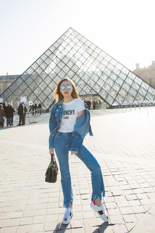 Ngọc Trinh khoe vẻ đẹp năng động, tươi vui hết cỡ trên đường phố Paris - Ảnh 8.