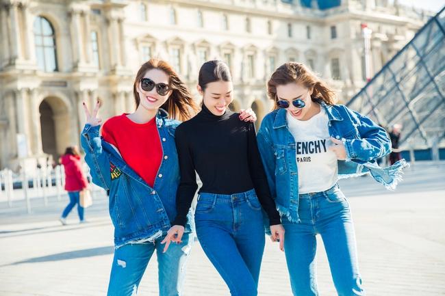 Ngọc Trinh khoe vẻ đẹp năng động, tươi vui hết cỡ trên đường phố Paris - Ảnh 11.