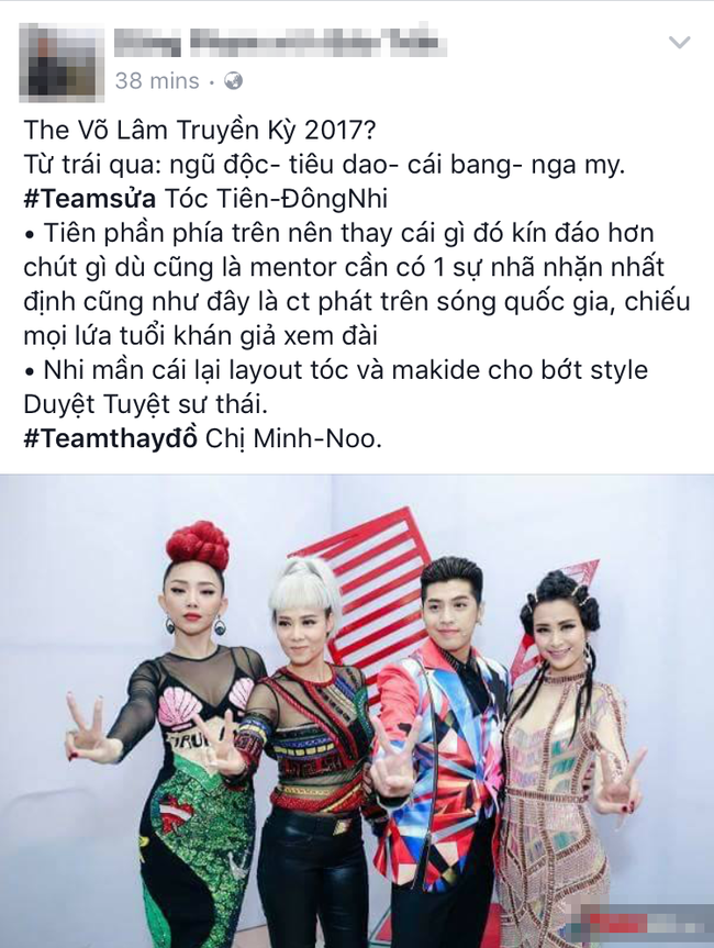 Netizen ví thời trang của bộ tứ HLV The Voice Việt 2017 như 2NE1 và... Võ Lâm Truyền Kỳ - Ảnh 2.