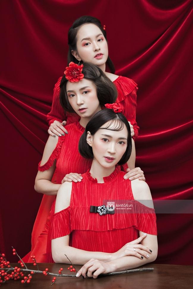 3 nàng hot girl Salim, Sun HT, Lê Vi xinh lạ trong những mẫu áo dài cách tân độc đáo - Ảnh 18.