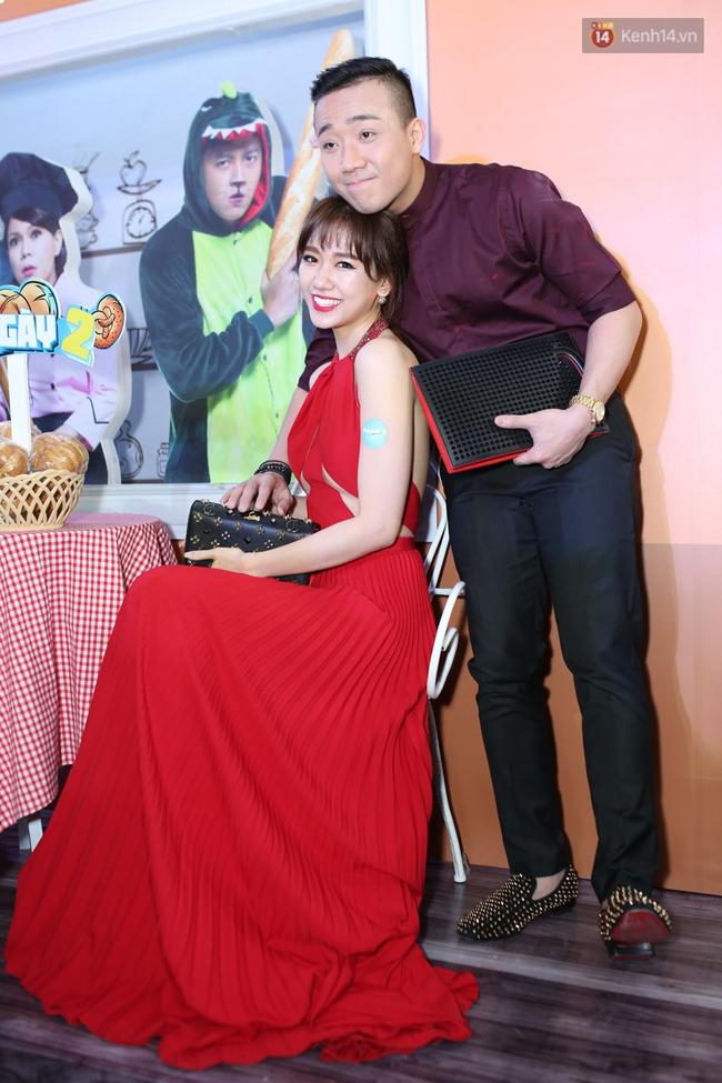 Bị nghi có bầu vì bụng bự, Hari Won quyết tâm giảm cân và diện đầm khoe chân ngực gợi cảm - Ảnh 4.