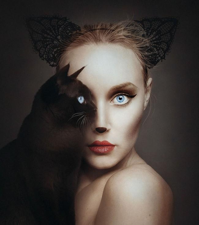 Con người và động vật xuất hiện cùng nhau trong bộ ảnh ghép mắt tuyệt đẹp - Ảnh 11.