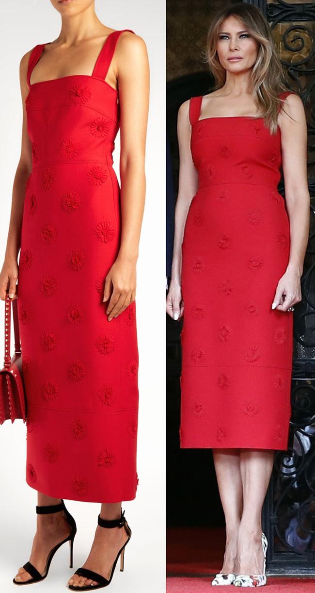 Đệ nhất phu nhân Melania Trump cắt phăng chiếc váy 120 triệu đồng để tiếp đón nguyên thủ quốc gia - Ảnh 1.
