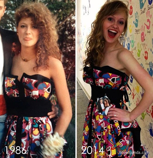 Diện váy của mẹ từ chục năm trước nhưng 17 cô nàng này trông vẫn long lanh như hot girl - Ảnh 1.