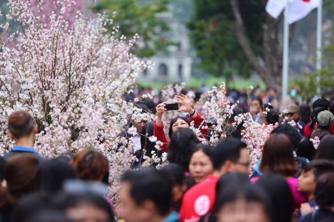 Nắng đẹp sau nhiều ngày mưa phùn, người dân Thủ đô ùn ùn kéo nhau lên phố đi bộ - Ảnh 7.