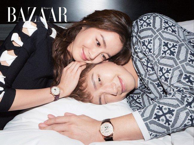 Kim Tae Hee và Bi Rain lộ khoảnh khắc chăm sóc nhau mùi mẫn hiếm hoi trên bìa tạp chí - ảnh 3