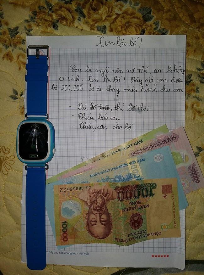 Vô tình làm vỡ đồng hồ, cách nhờ vả của <a target='_blank' href='http://www.phunuvagiadinh.vn/tag/cau-be-lop-5'>cậu bé lớp 5</a> khiến nhiều người thích thú - Ảnh 1.