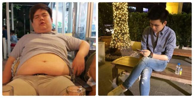 Cú lột xác đầy ngoạn mục của anh chàng béo siêu bụng bự sau 1 năm biến thành soái ca - Ảnh 1.