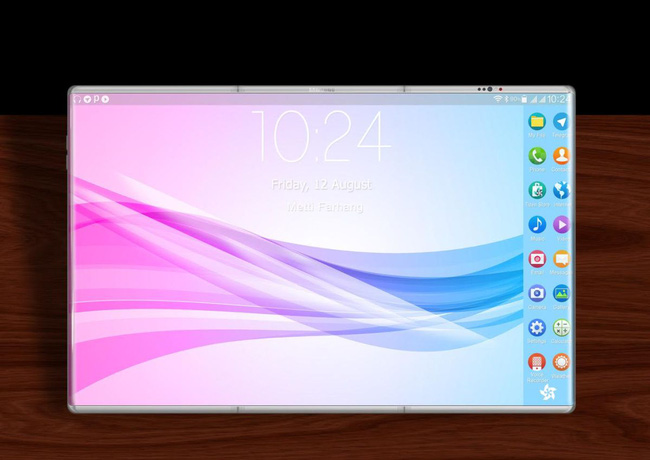 Cùng rửa mắt ngắm ý tưởng smartphone có màn hình bẻ gập đẹp đến mê mẩn - Ảnh 3.