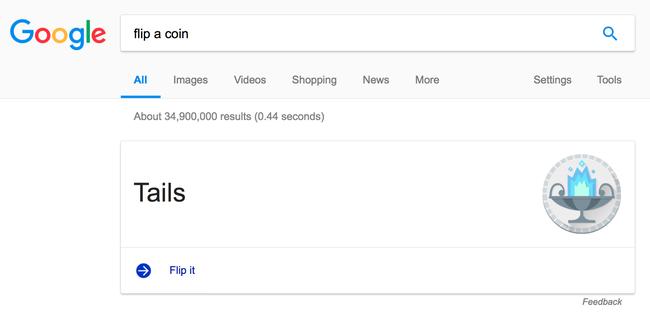 Đứng trước sự lựa chọn hên xui và muốn tung đồng xu để quyết định? Hãy thực hiện điều đó ngay trên Google - Ảnh 3.