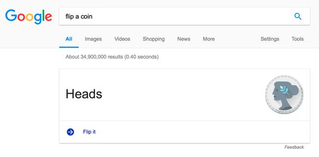 Đứng trước sự lựa chọn hên xui và muốn tung đồng xu để quyết định? Hãy thực hiện điều đó ngay trên Google - Ảnh 2.
