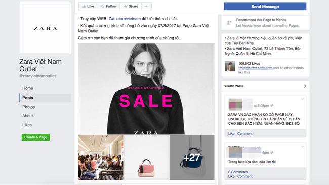 Thông tin về Zara Việt Nam Outlet, sale đồng giá 100.000 đồng hoàn toàn là lừa đảo! - Ảnh 1.